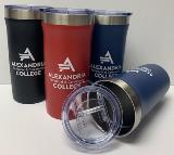 Palermo Tumbler with Alexandria College logo in 3 colors