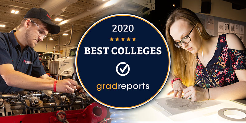 Diesel Mechanics and Communication Art ranked Top 5 in the nation by GradReports