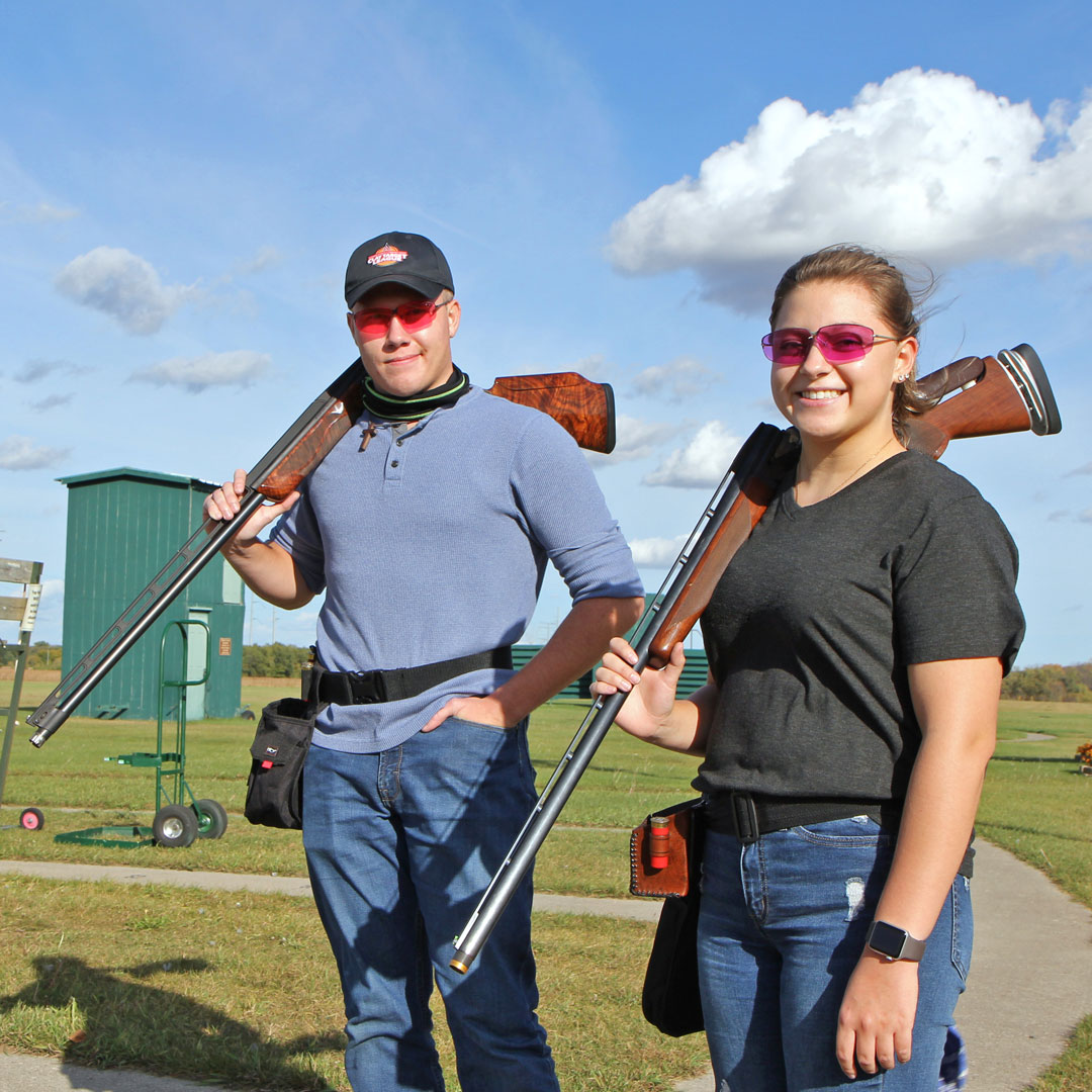 Cole Girtz and Kiah Martinson, ATCC Clay Target League