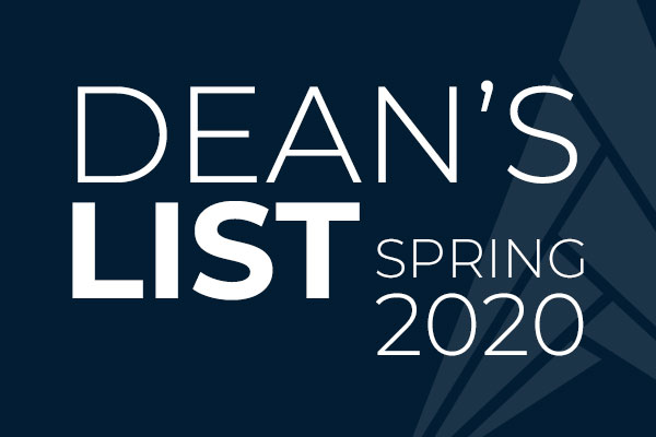 Deans List Spring 2020