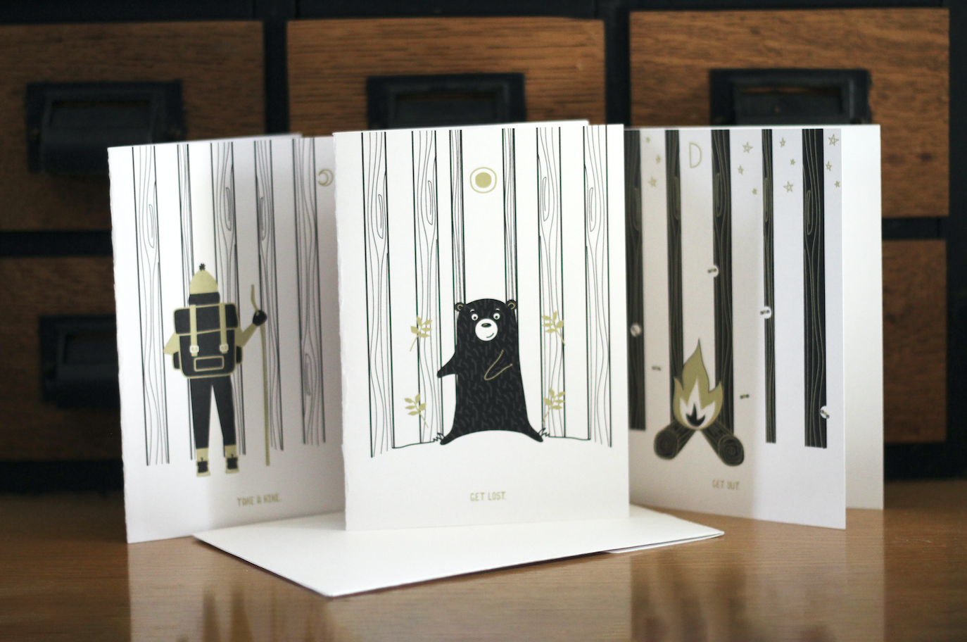 Unearthed Greeting Card Series by Heather Rolin